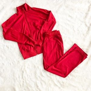 Nike Red Sweat Suit Size Medium